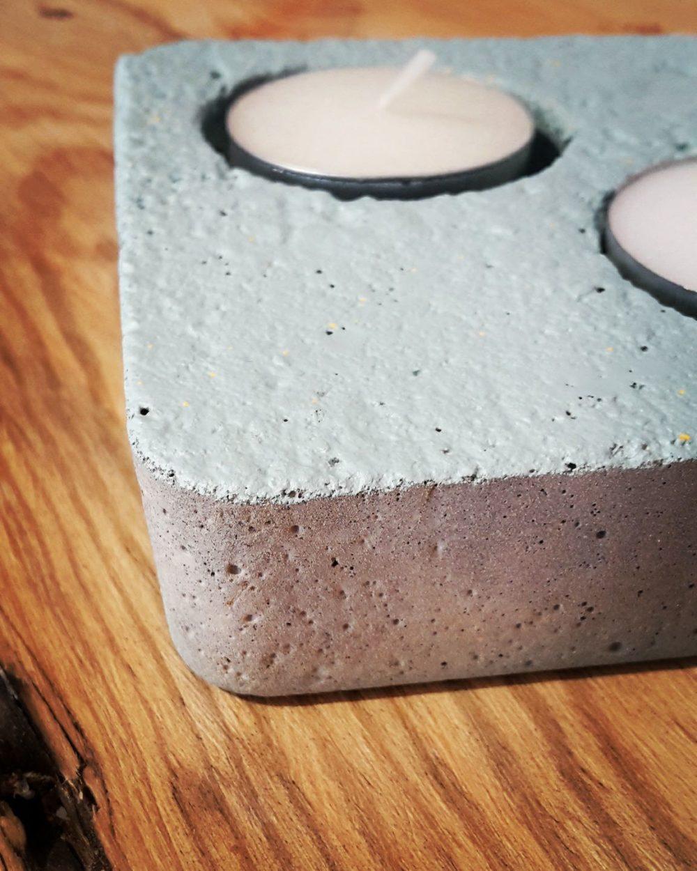 bougeoir, béton, ciment, amt design, décoration d'intérieur, objet béton, objet déco
