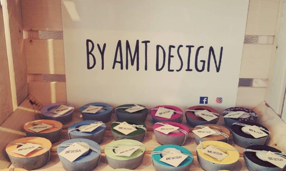 bougeoir, rond, béton, ciment, amt design