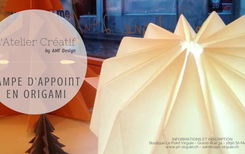 Atelier d'appoint en origami