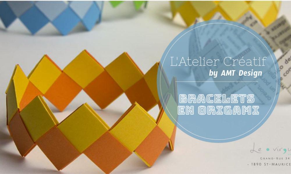 bracelet, origami, diy, atelier, enfants, amt design