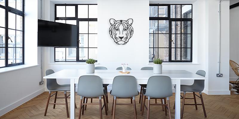 tigre, décoration métale, décoartion murale
