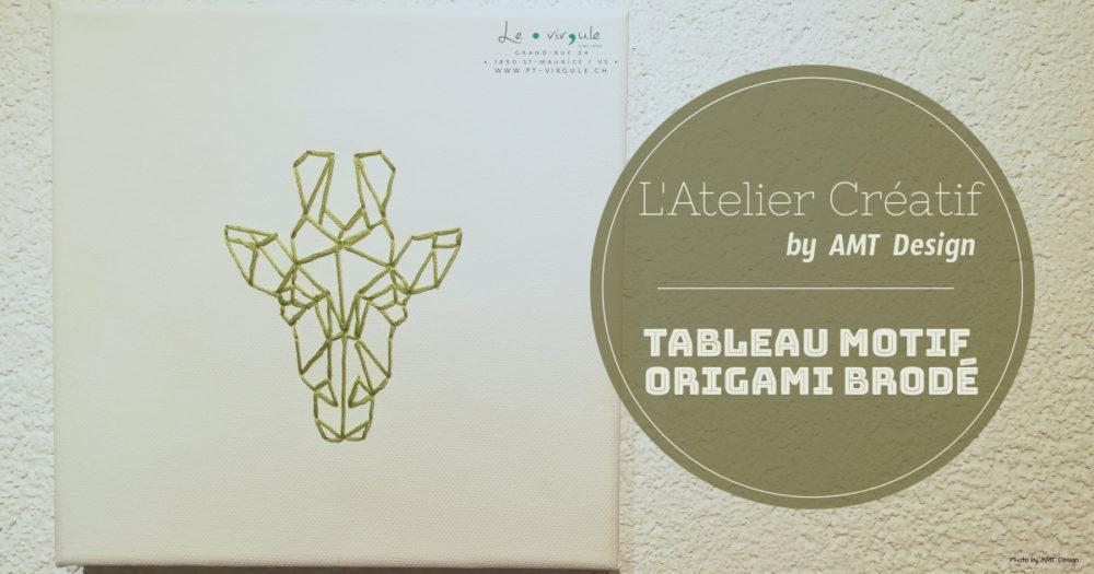 tableau, cadre, broderie, origami, amt design, le point virgule, décoration, décoartion murale, décoration d'intérieur