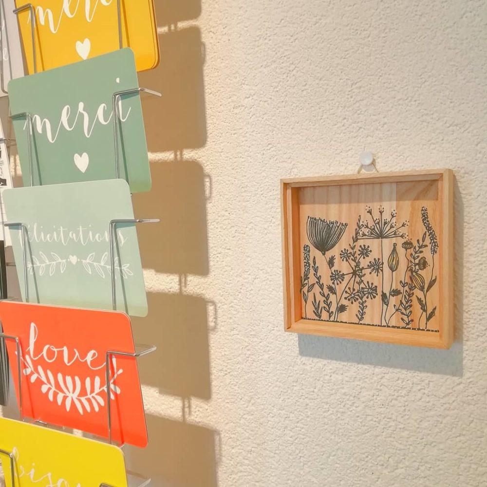 illustration, fait-main, posca, acrylique, bois, upcycling, amt desing, suisse, création