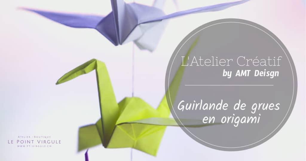 atelier créatif, diy, atelier enfants, loisirs créatifs, origami, grue
