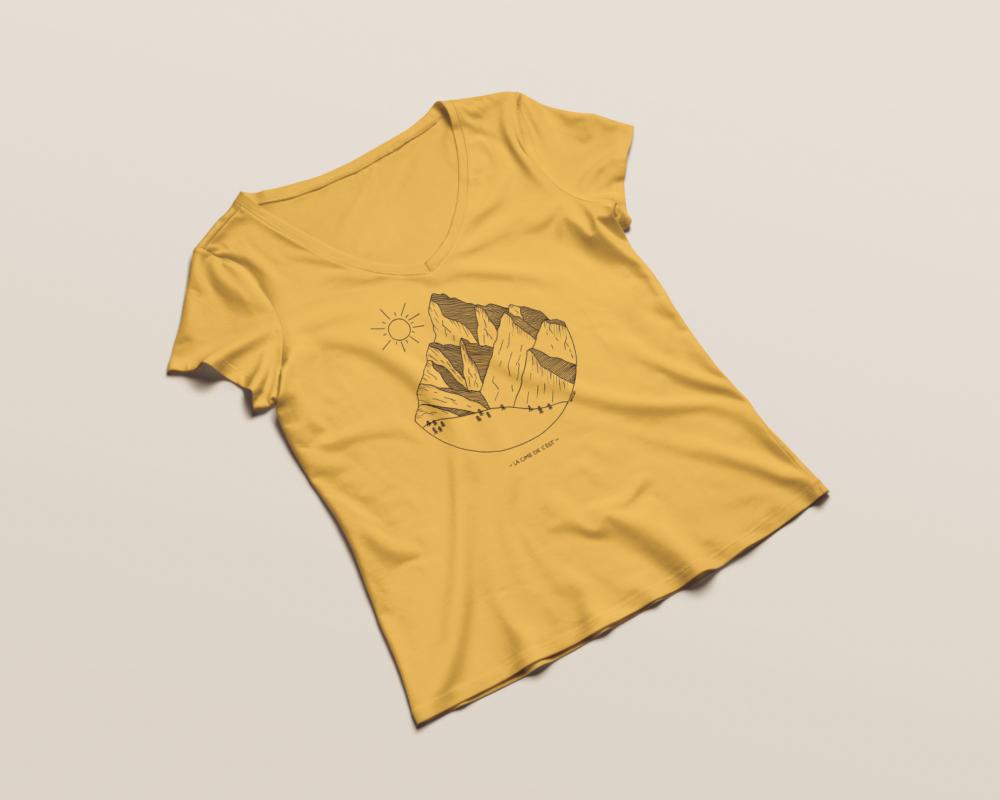 Cime de l'Est - T-shirt femme Indian Yellow