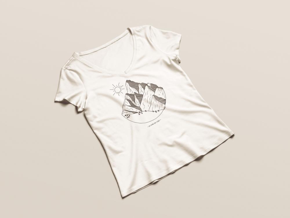 Cime de l'Est - T-shirt femme withe