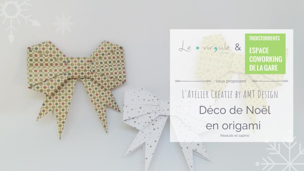 Atelier créatif déco noël en origami
