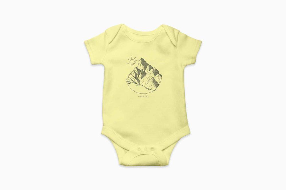 Body Bébé jaune pastel Cime de l'Est