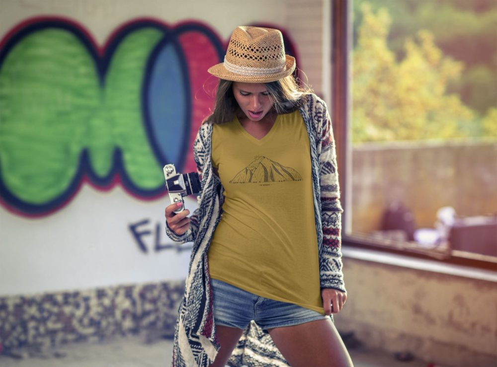 T-shirt femme Catogne moutarde