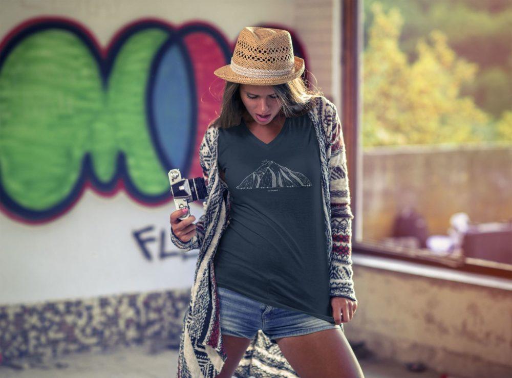 T-shirt femme Catogne noir