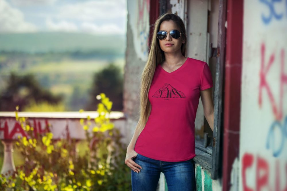 T-shirt femme Catogne rouge