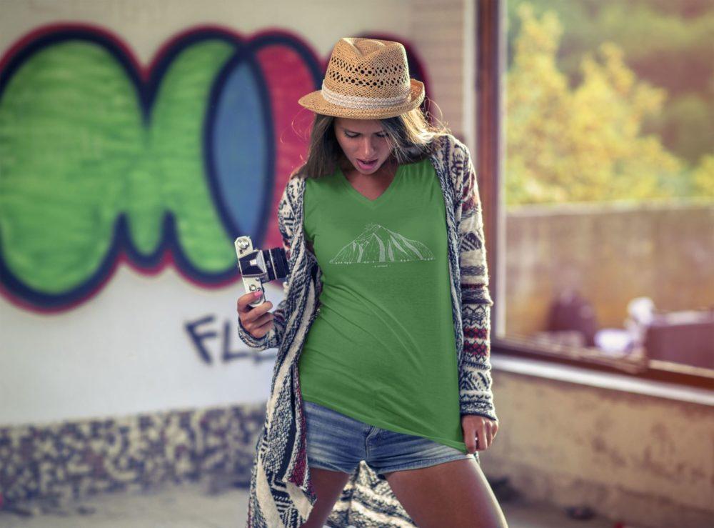 T-shirt catogne Femme vert