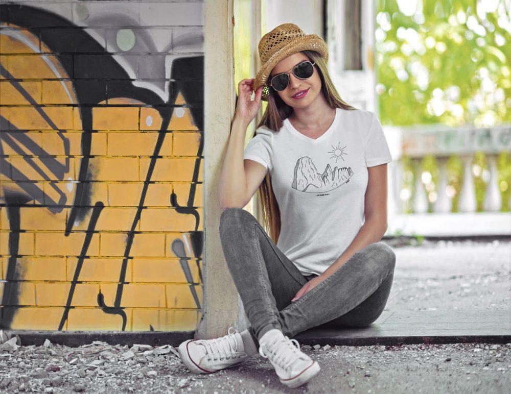 Pierre Avoi - T-shirt femme blanc
