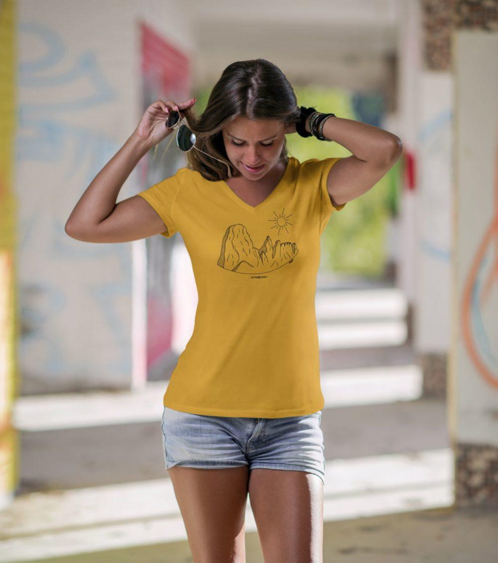 Pierre Avoi - T-shirt femme moutarde