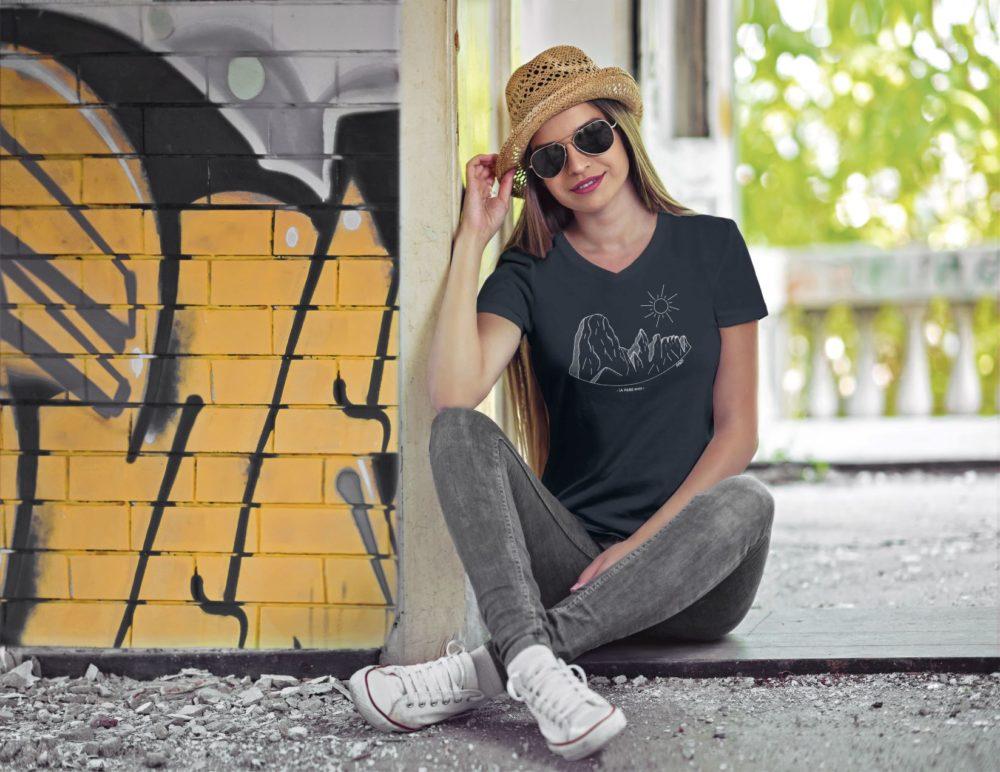 Pierre Avoi - T-shirt femme noir