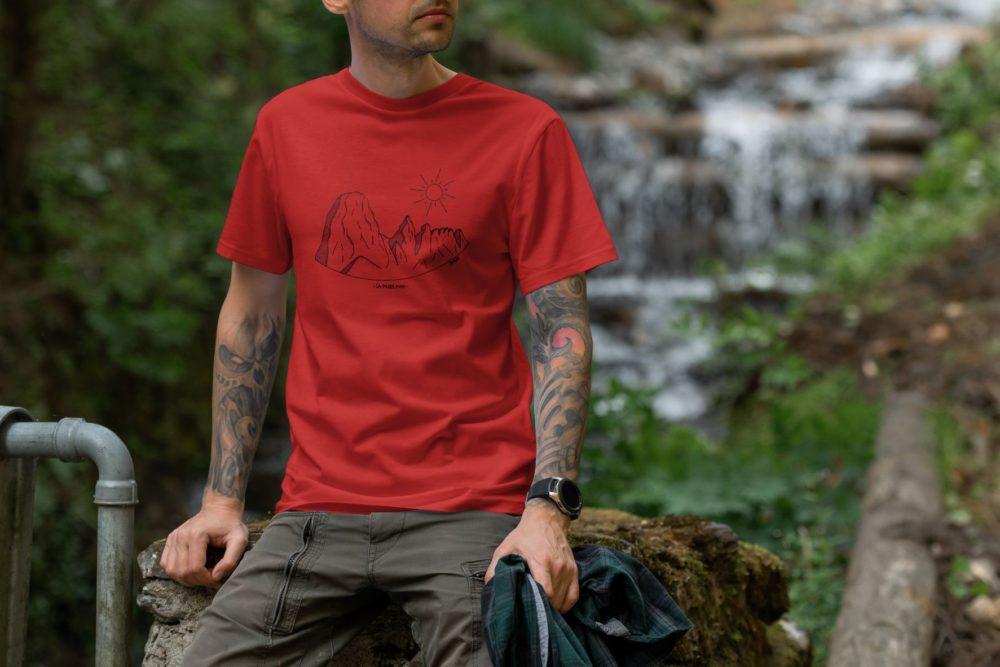 Pierre Avoi - T-shirt homme rouge M